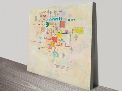 Kandinsky Abstract Print of Gentle Accent