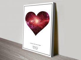 Personalised Heart Star Map Art Print