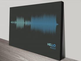 Hello Song Sound wave canvas print