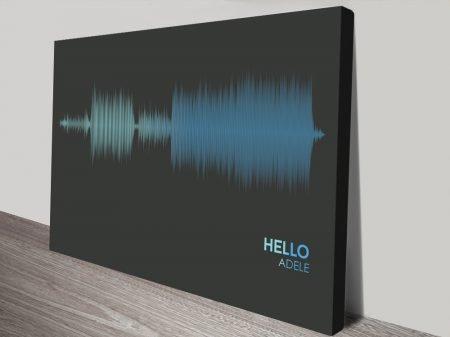 Hello Song Sound wave canvas print