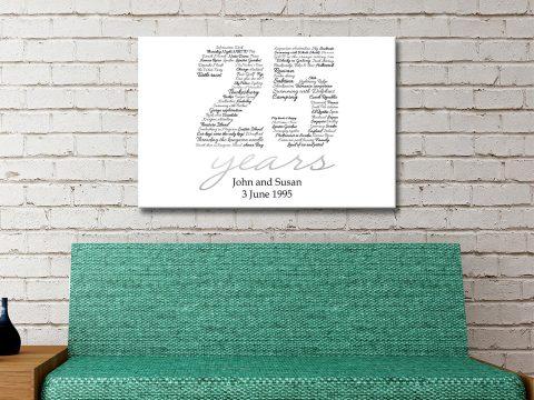 Personalised Numbers Art Gift Australia