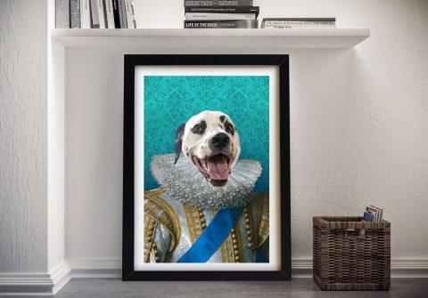 Ready to Hang King of France Custom Pet Art