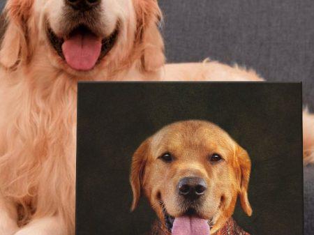 Lady Dawg Personalised Pet Portrait Print