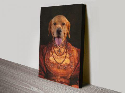 Lady Dawg Ready to Hang Pet Portraits AU