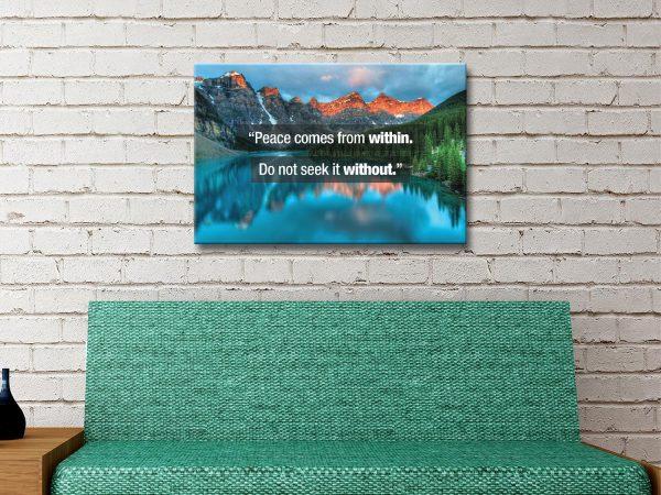 Affordable Buddha Quotes Canvas Art AU