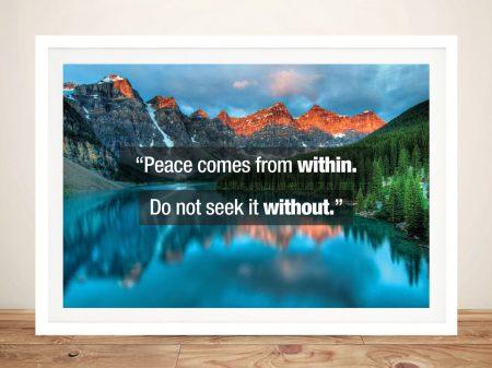 Buy Lake Scene Buddha Quote Wall Art