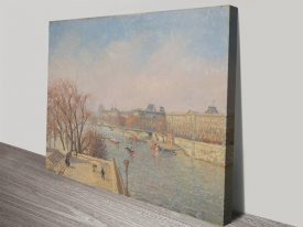 Le Louvre Morning Sun Classic Print on Canvas