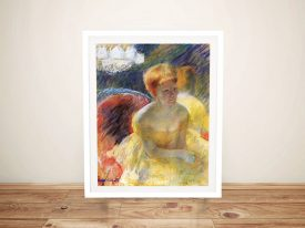 Framed Mary Cassatt Print of Canvas of Lydia