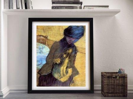 Mary Cassatt with her Dog Classic Portrait Art
