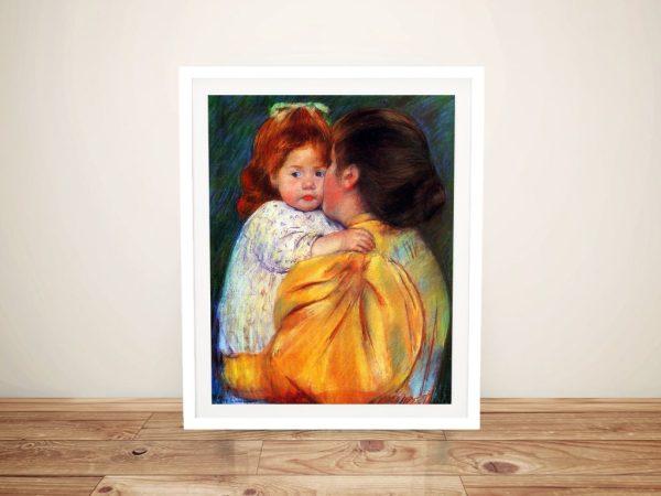 Maternal Kiss Mary Cassatt Wall Art Online