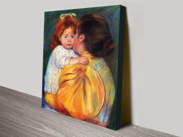 Buy Maternal Kiss Wall Art by Mary Cassatt