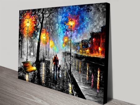 Melody of the night colour splash canvas art