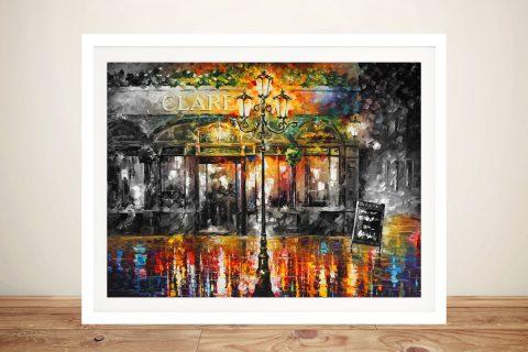 Misty Cafe Colour Splash Leonid Afremov Artwork