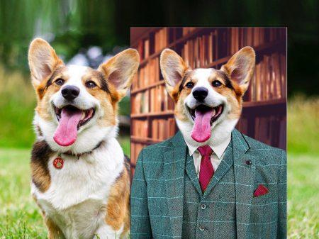 The Gent Framed Canvas Pet Portraits