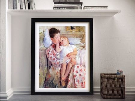 Mother and Child Framed Print on Canvas