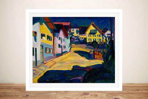 Framed Stretched Canvas Modern Art AU