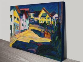 Buy a Murnau Burggrabenstrasse Print on Canvas