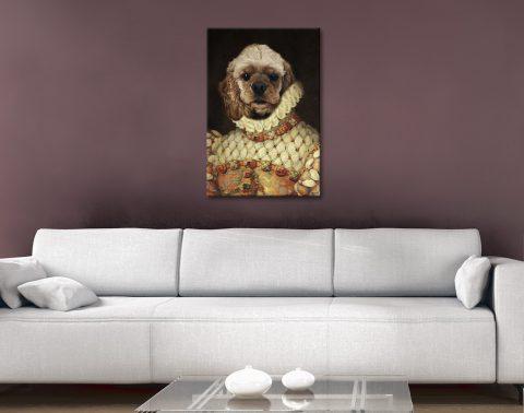 Lady Dog Custom Pet Art Home Decor Ideas