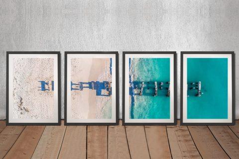 Buy Old Jurien Bay Jetty Split Panel Wall Art