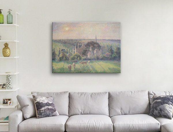 Paysage à Éragny Canvas Print Great Gift Ideas AU