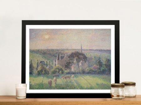 Paysage à Éragny Classic Pissarro Wall Art Print