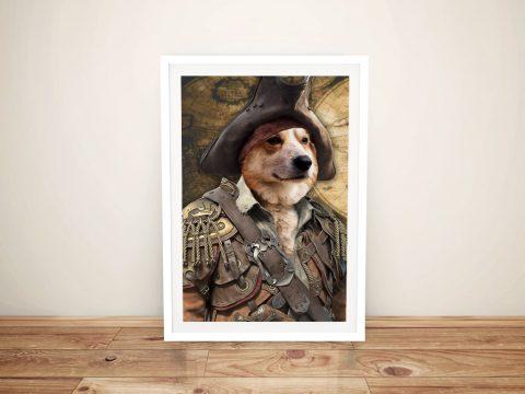 Ready to Hang Custom Pirate Pet Portrait AU
