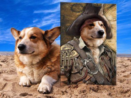 Buy a Pirate Custom Pet Portrait Canvas Print