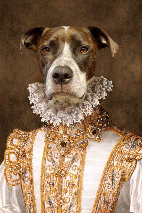 Princess Dog Portrait Art