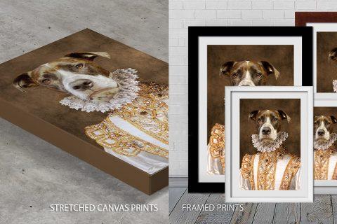 Princess Dog Portrait Art Quality Print