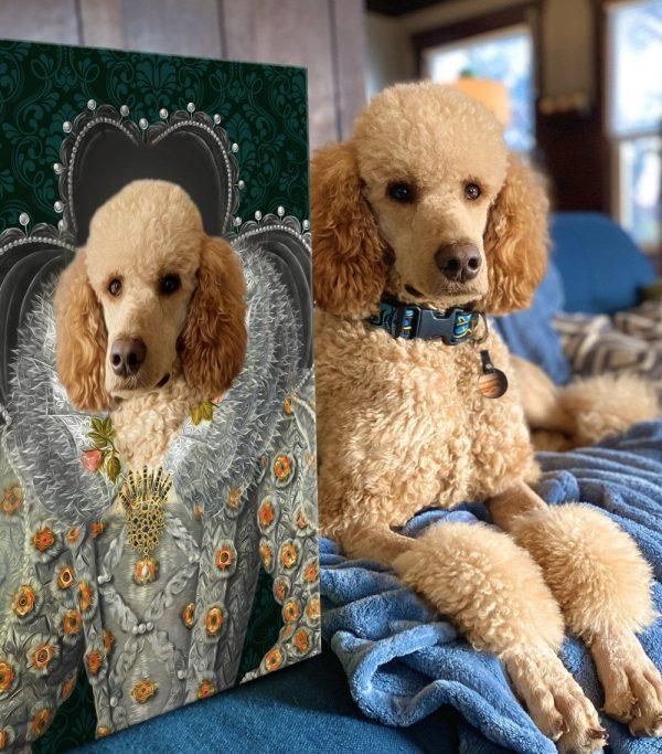 Queen Elizabeth Custom Pet Portrait Wall Art