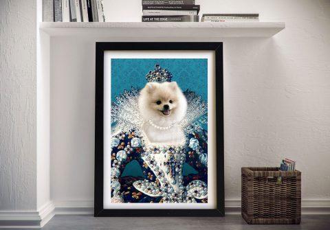 Ready to Hang Custom Queen Dog Pet Prints