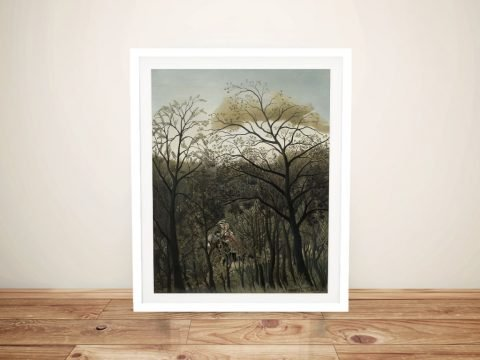 Framed Print of Rendezvous in the Forest