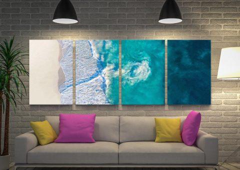 4-Panel Surf Art Set of Riptide by Matt Day