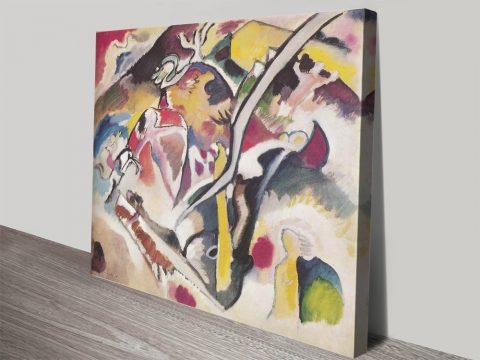 Sintflut Abstract Art Print on Canvas by Kandinsky