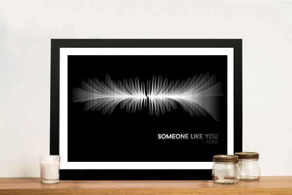 Someone Like You Waveform Framed Wall Art
