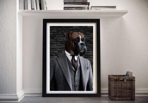Suit & Tie Custom Pet Portrait Cheap Online