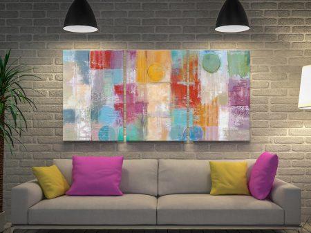 Summer Rain 3-Piece Abstract Wall Art