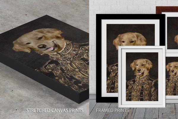 The Ambassadress Dog Portrait Quality Print