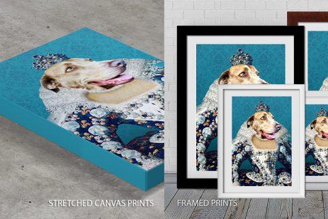 The Queen Pet Portrait Quality Print