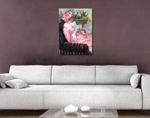 The Cup of Tea Ready to Hang Mary Cassatt Art