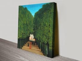The Avenue in the Park Classic Print on Canvas