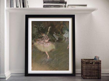 Degas The Star Framed Canvas Wall Art