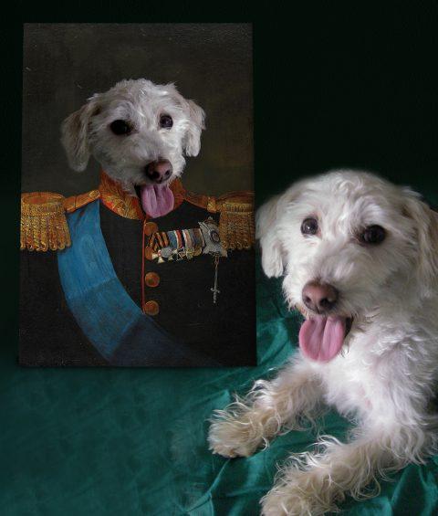 Tsar Personalised Pet Portrait Canvas Art