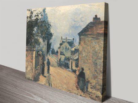 Une Rue a L´Hermitage Pissarro Print on Canvas