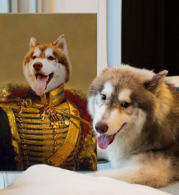 Viscount Stretched Canvas Custom Pet Art
