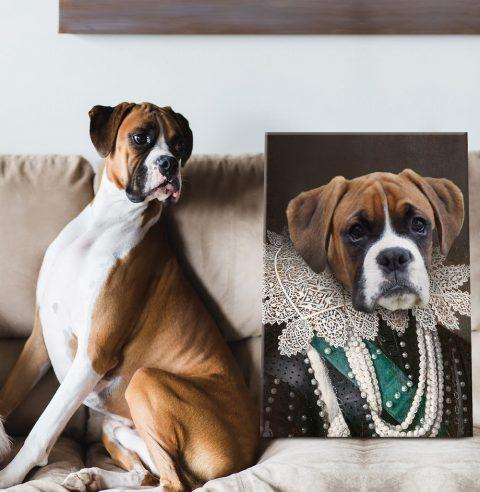 Viscountess Personalised Pet Portrait Canvas Art Print