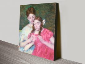 Woman and Girl Classic Cassatt Print on Canvas