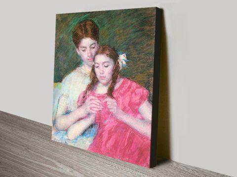 Woman and Girl Classic Cassatt Print on Canvas