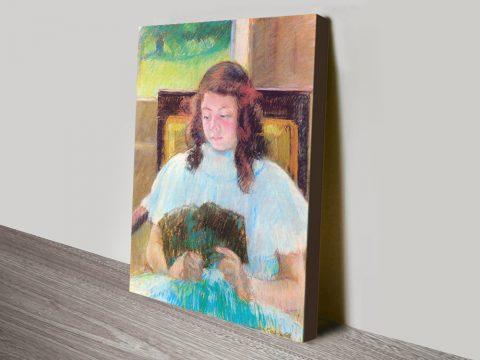 Buy Young Girl Reading by Mary Cassatt