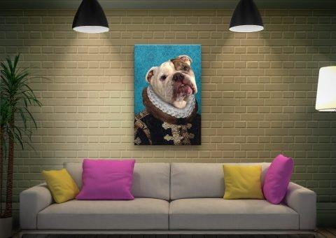 Archduke pet portrait Canvas Print